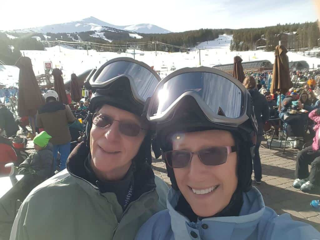 Don and Vicki skiing in Breckenridge