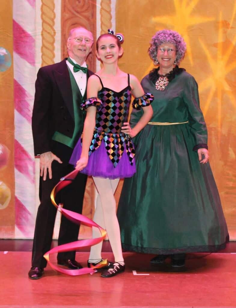Don, Vicki and Granddaughter in The Nutcracker