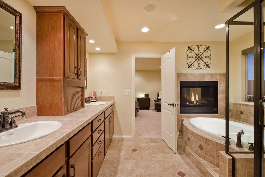 Master Bathroom with FIreplace
