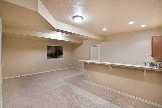 Basement Rec Room and Wet Bar