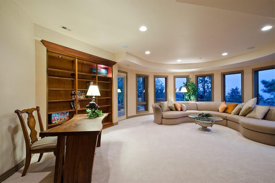 Basement Family Room with Walkout