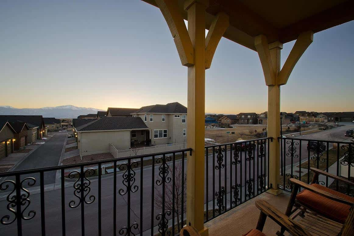 Upper Level Patio with Pikes Peak Views