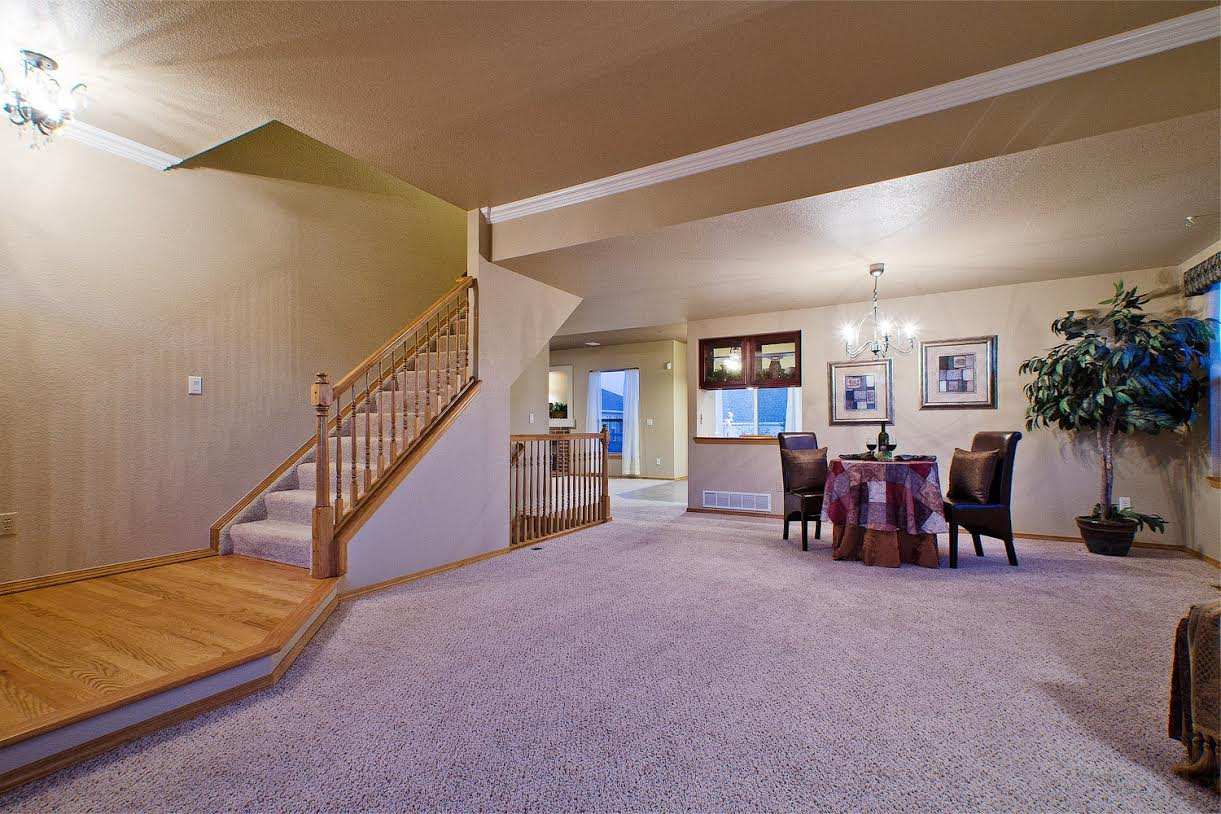 Entry into Living Room, Dining Room, and Nook