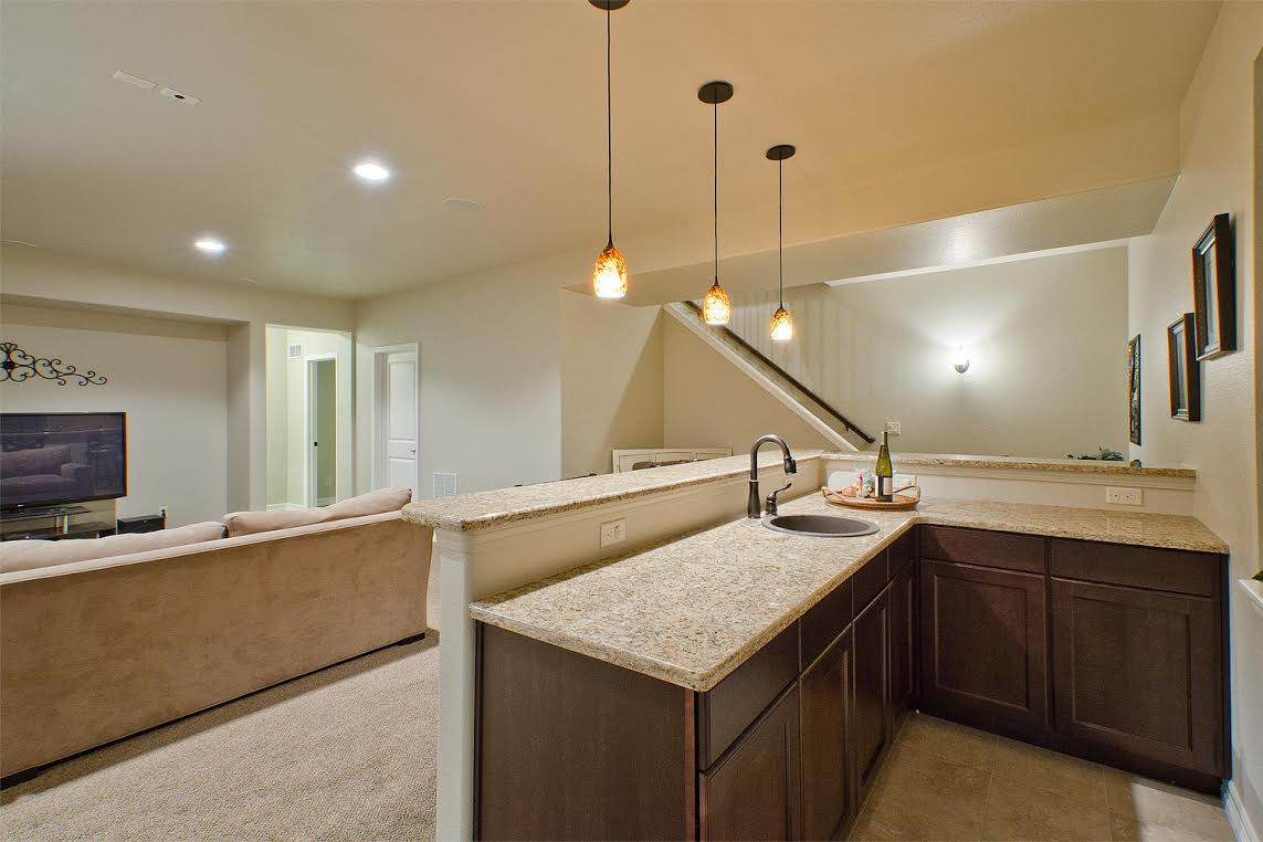 Large Wet Bar with Granite Top