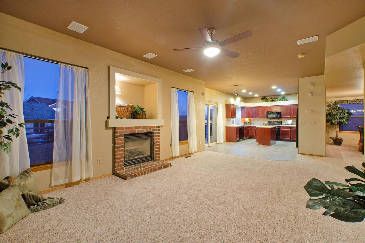 Family Room off the Nook and Kitchen