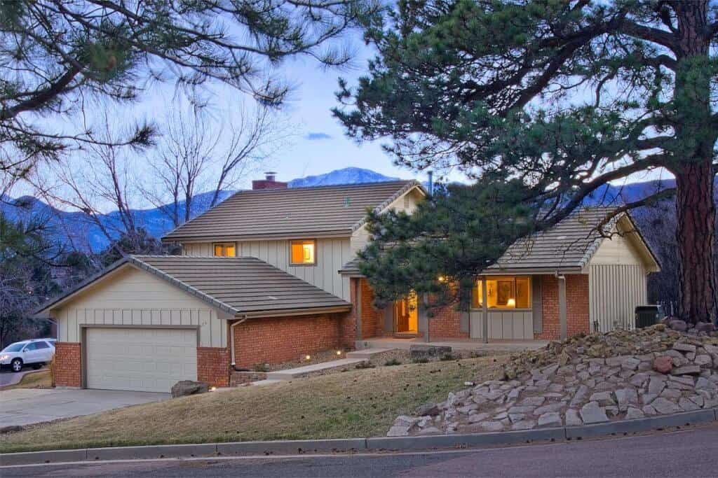 Truly stunning Flying Horse cul-de-sac home with walkout Basement & extraordinary views of Pikes Peak, the Air Force Academy & Front Range