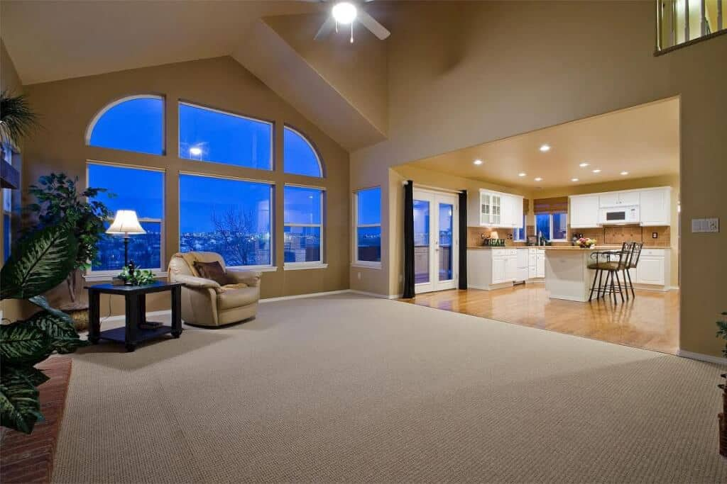 Family Room with View Window back to Kitchen