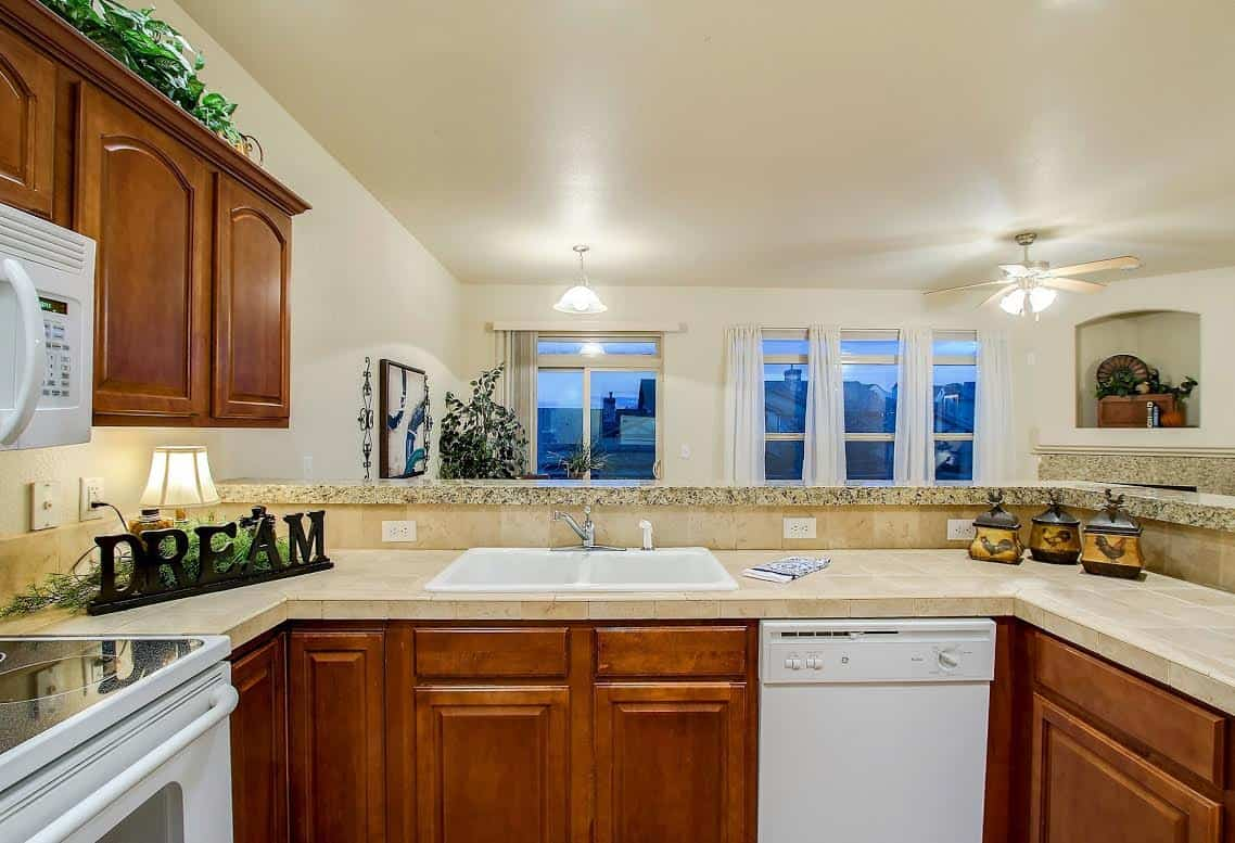 Kitchen overlooking the DIning Room and Views