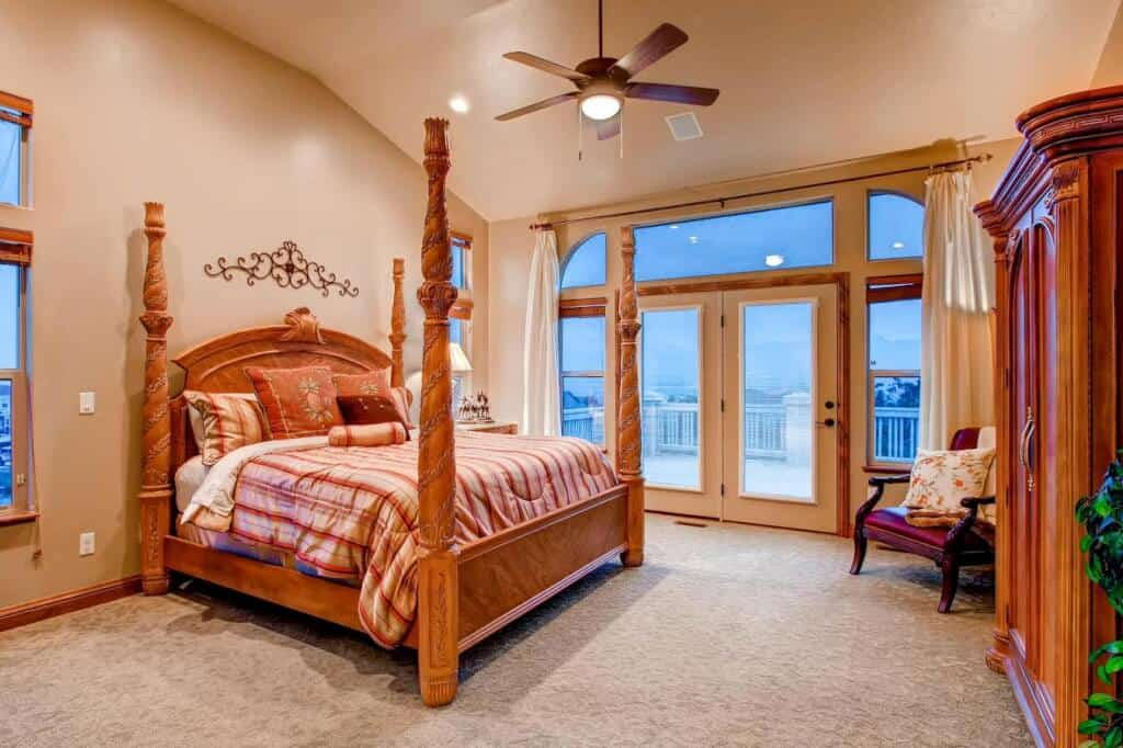 Master Bedroom with Walkout to Deck