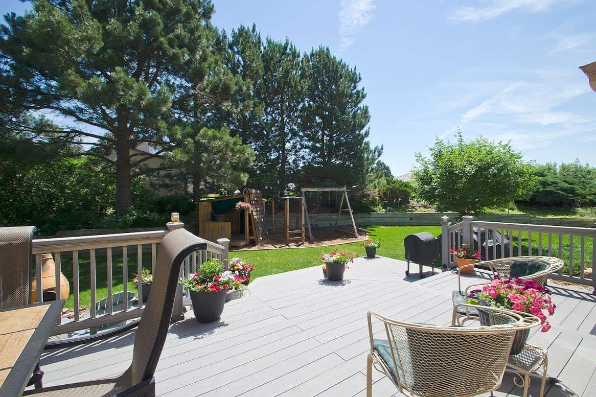 Large Backyard with Multi-Tiered Deck