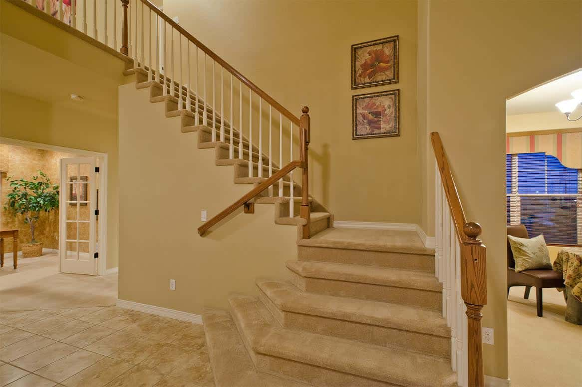 Formal Stairs from Entry to Upper Level