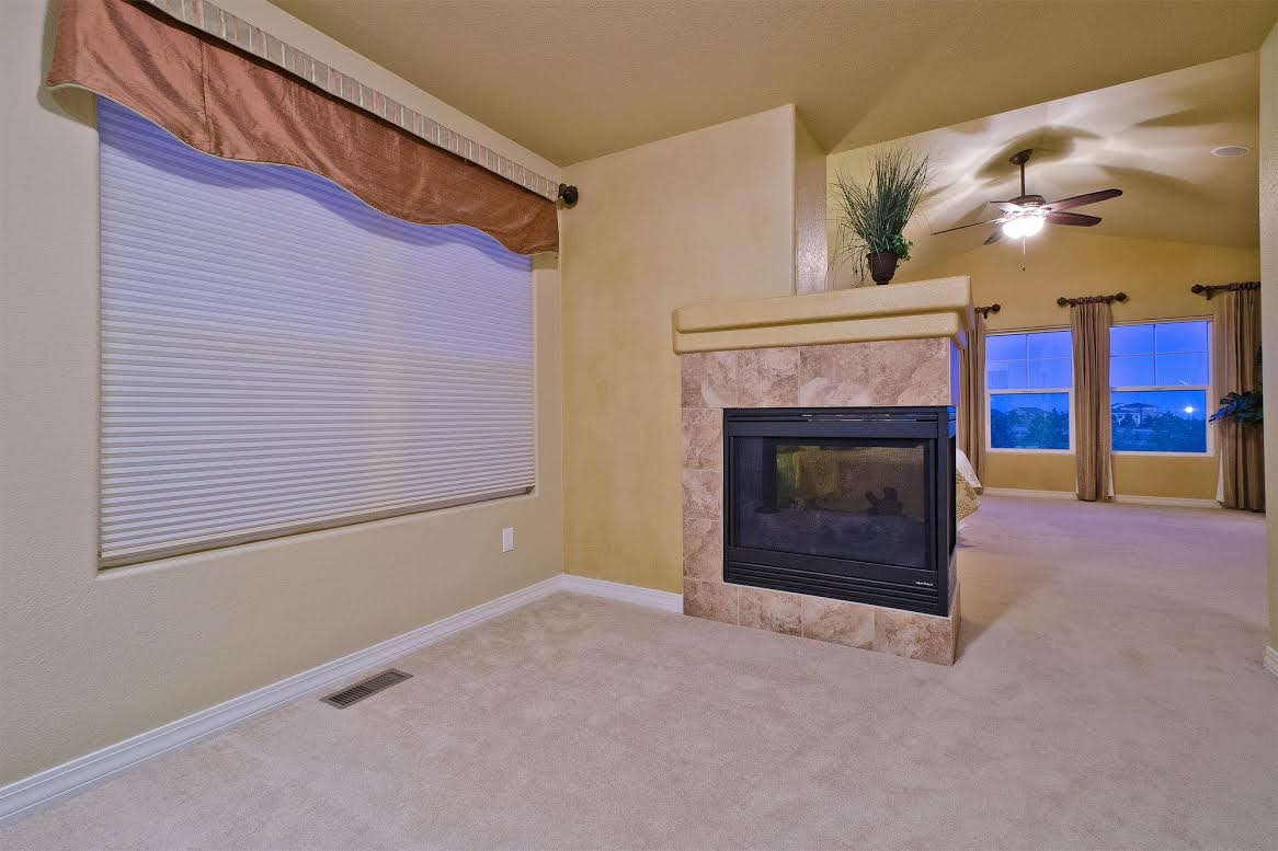 Pedestal Fireplace in Sitting Rooma and MBR