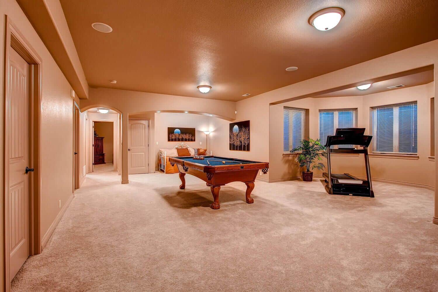 Great Open Recreation Room in Basement