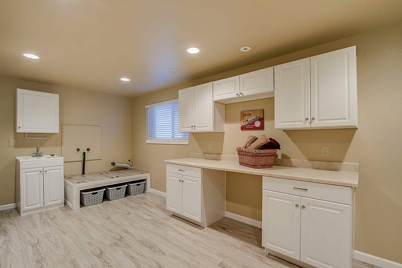 Lower Level Laundry and Craft Room