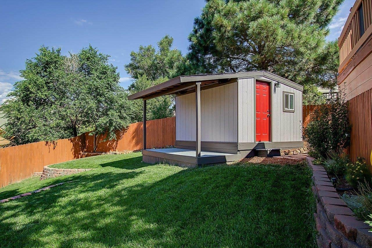 Storage Shed with View Deck