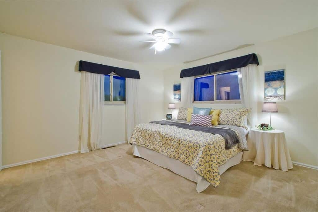 Upper Master Bedroom with attached Bathroom