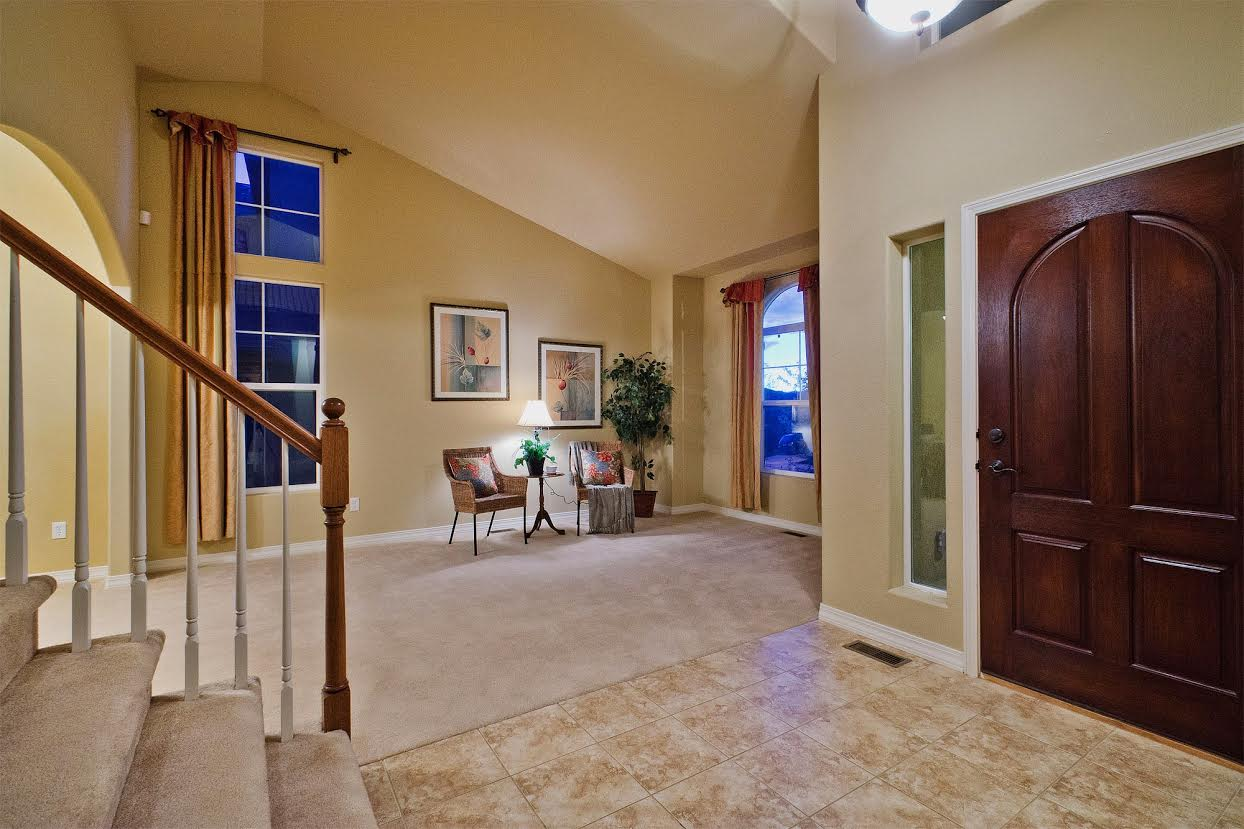 Entry and Living Room