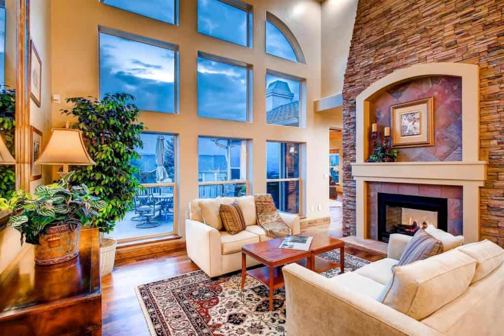 Great Room with Front Range Views