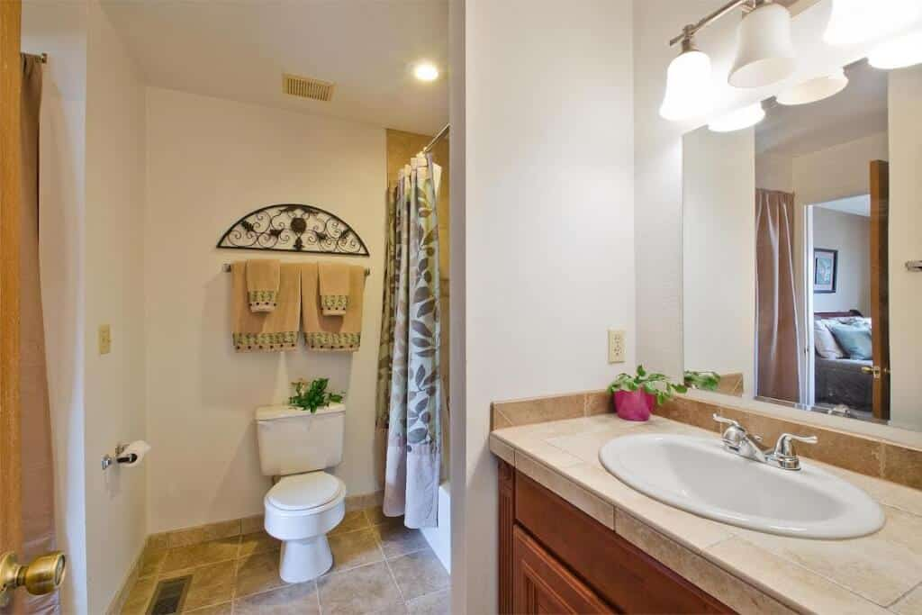 Hall Bath adjoining the Master Bedroom