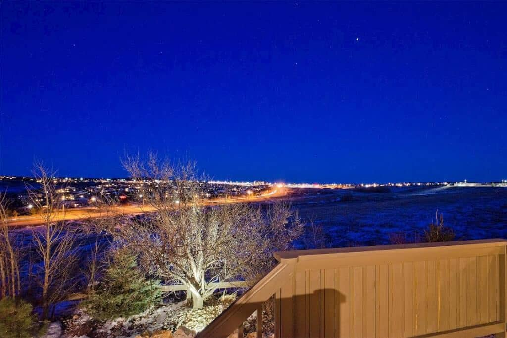City Light Views off Deck