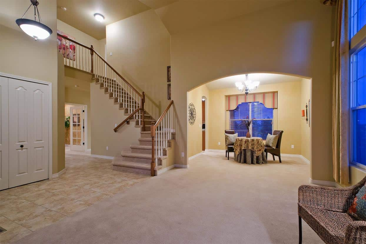 Entry, Living Room, Dining Room