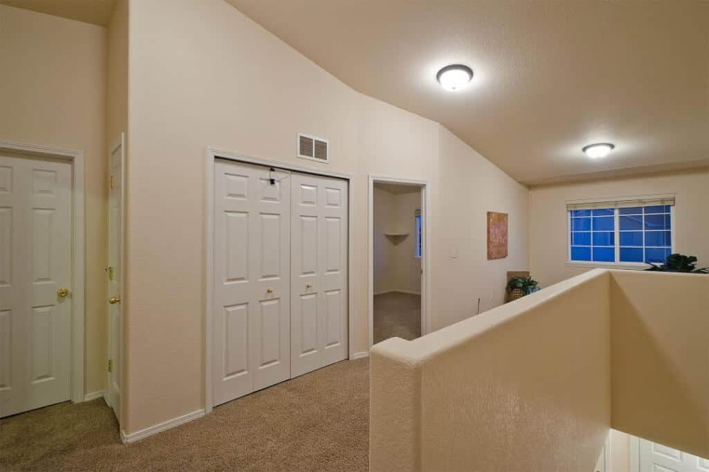 Top of Stairs with Closet for Laundry and Loft
