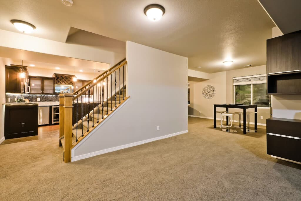 Large Open Basement with Storage