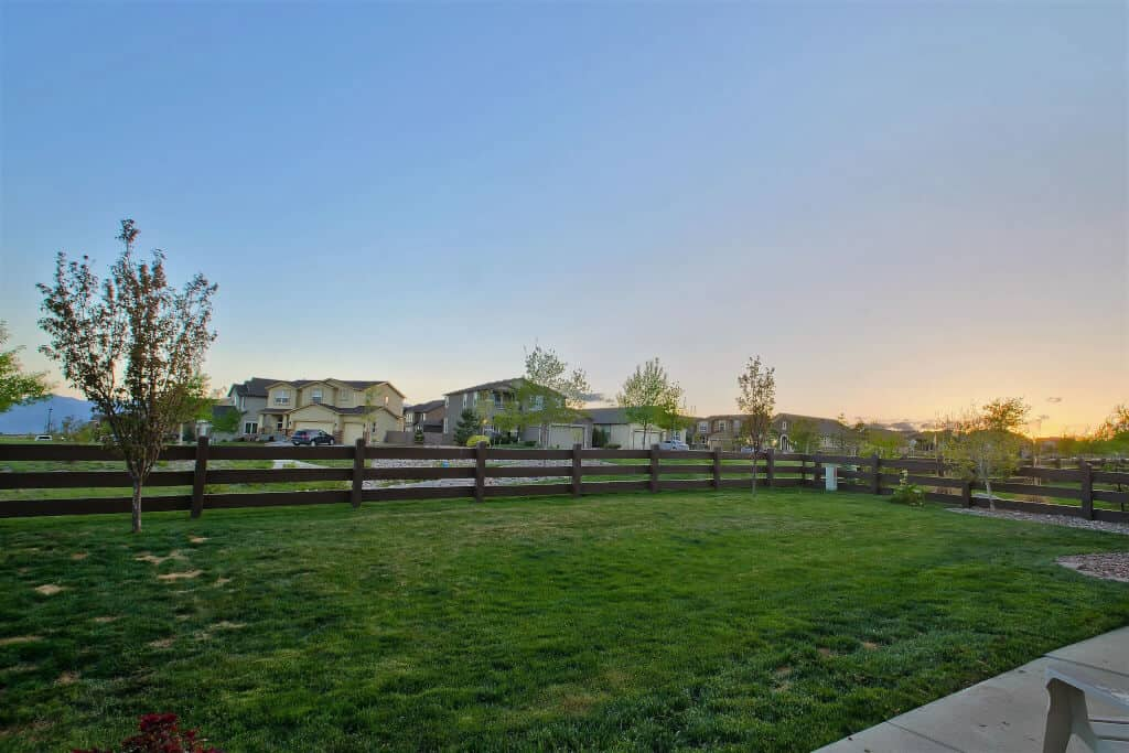 Fenced Yard with Views of Walking Trails