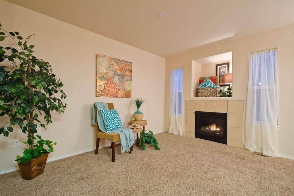 Living Room and Family Room w/Niche