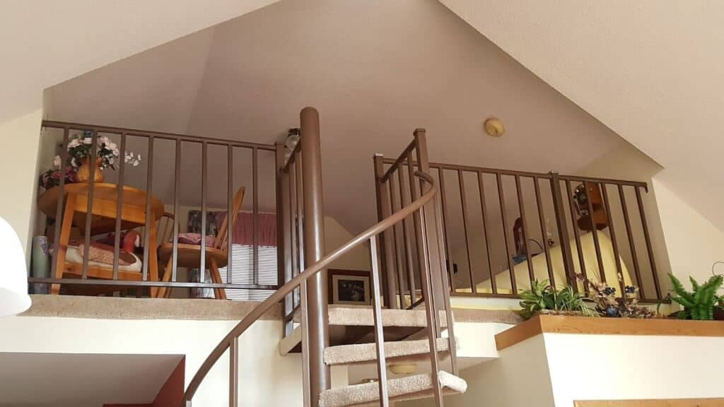 Spiral Stairs to Loft