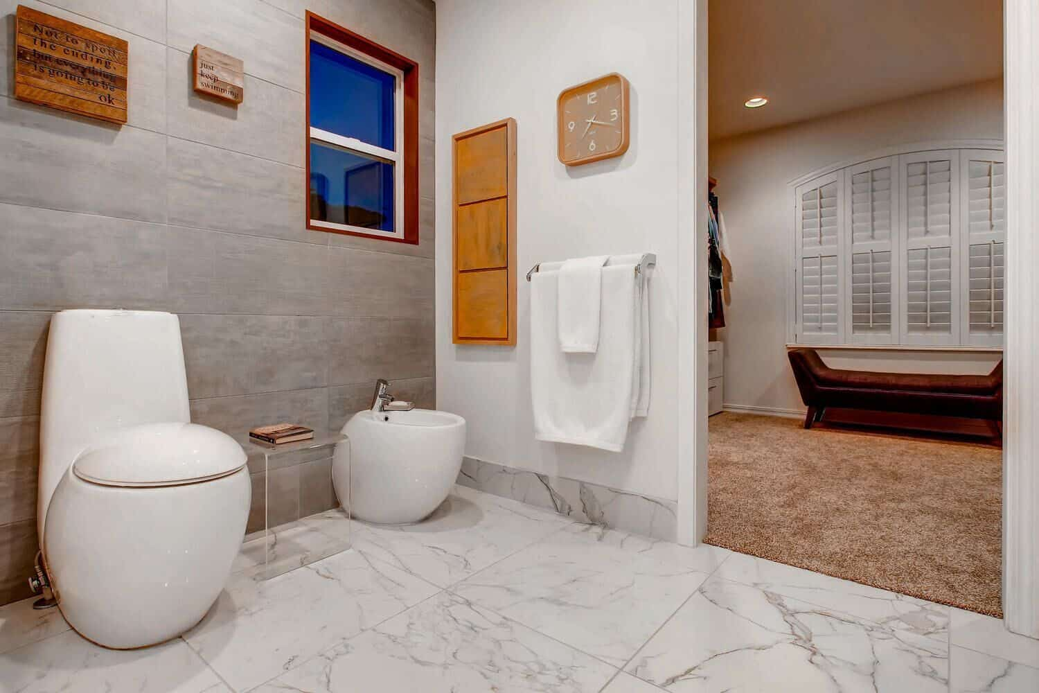 Toilet and Bidet Room