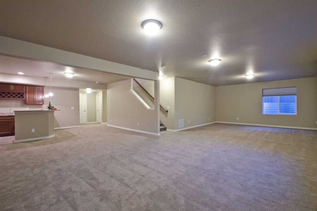 Huge Open Basement Recreation Room