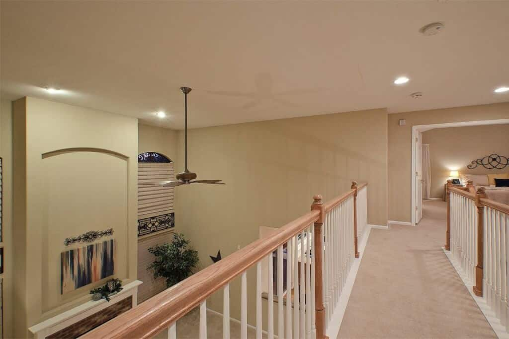 Upper Walkway overlooking the Family Room