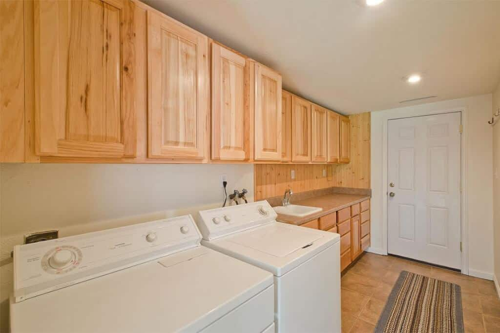 Lower Level Laundry with Garage Access