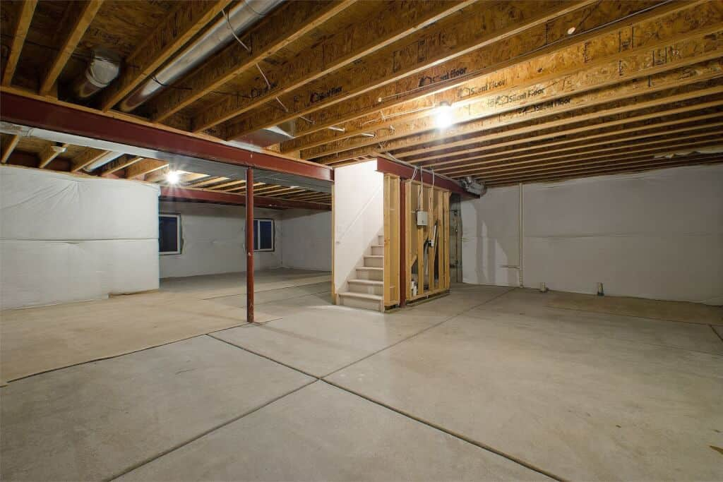 Unfinished Large Basement