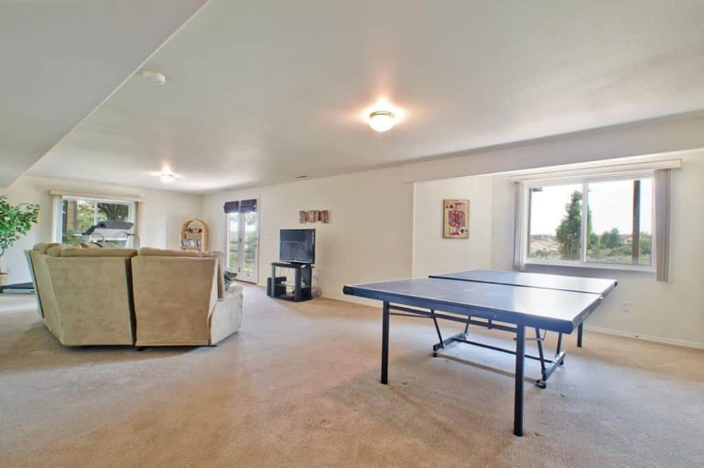 Large, Open Walk-Out Rec Room
