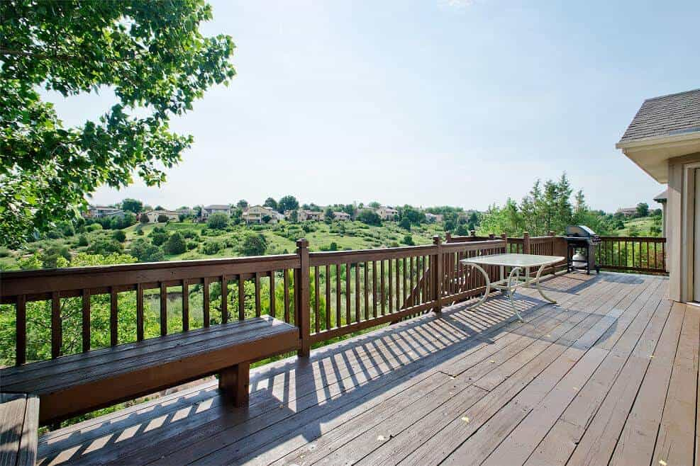 Enjoy Views from the Back Deck