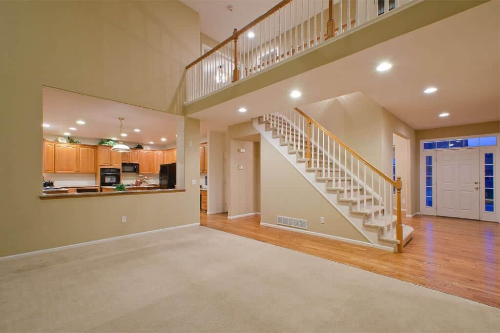 View of Open Floor Plan from Family Room