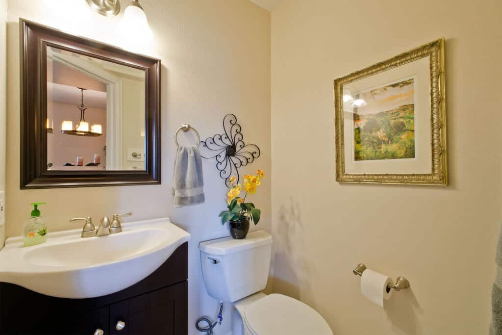 Powder Room off the Living Room