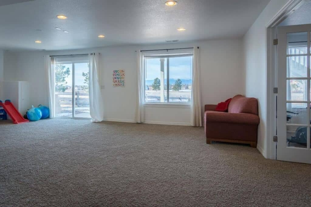 Walkout Family Room with Surround Sound