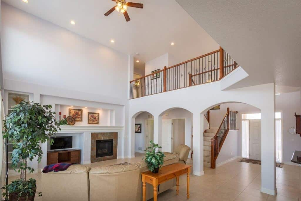 2-Story Great Room opens to Kitchen and Nook