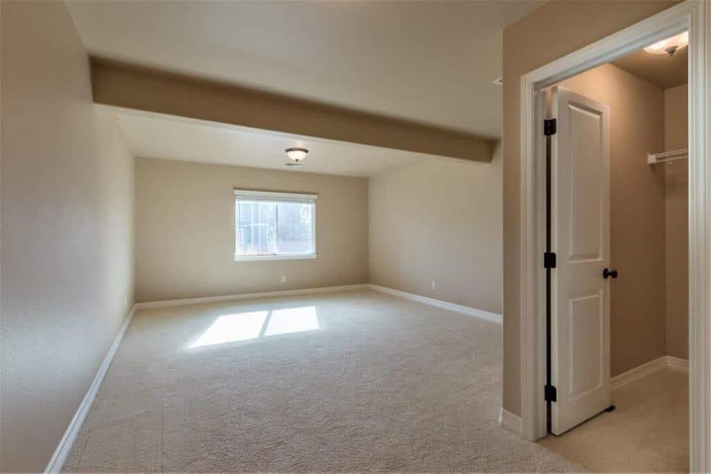 Basement Bedroom with Walkin Closet