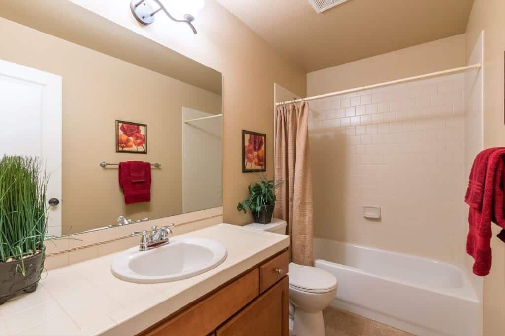 Front Tiled Bathroom