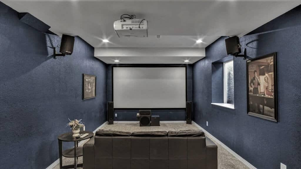 Equipped Theater Room