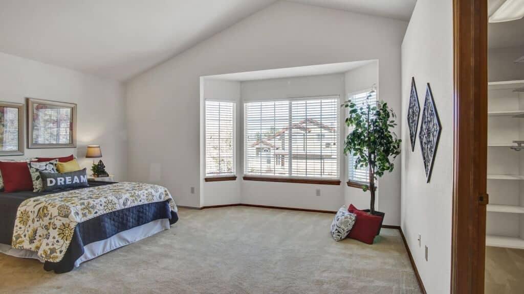 Master Bedroom into Walk-In Closet