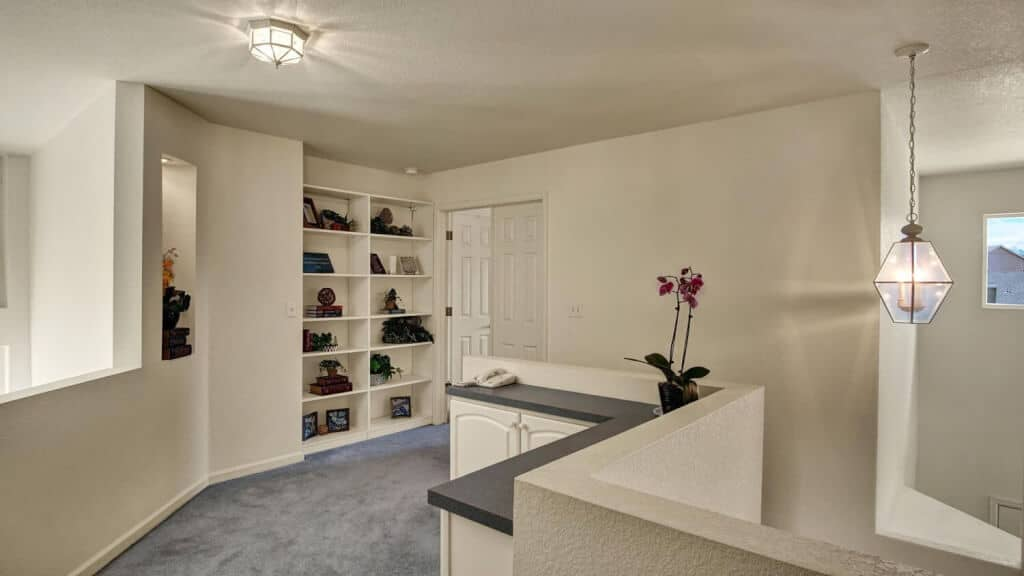Upper Level Landing with Bookcases