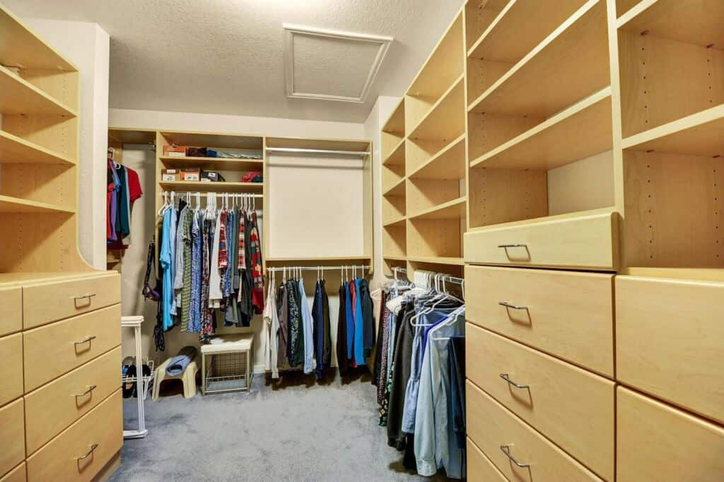 Master Bedroom with Built-In Closet