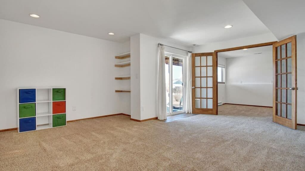 Recreation Room with Walk Out