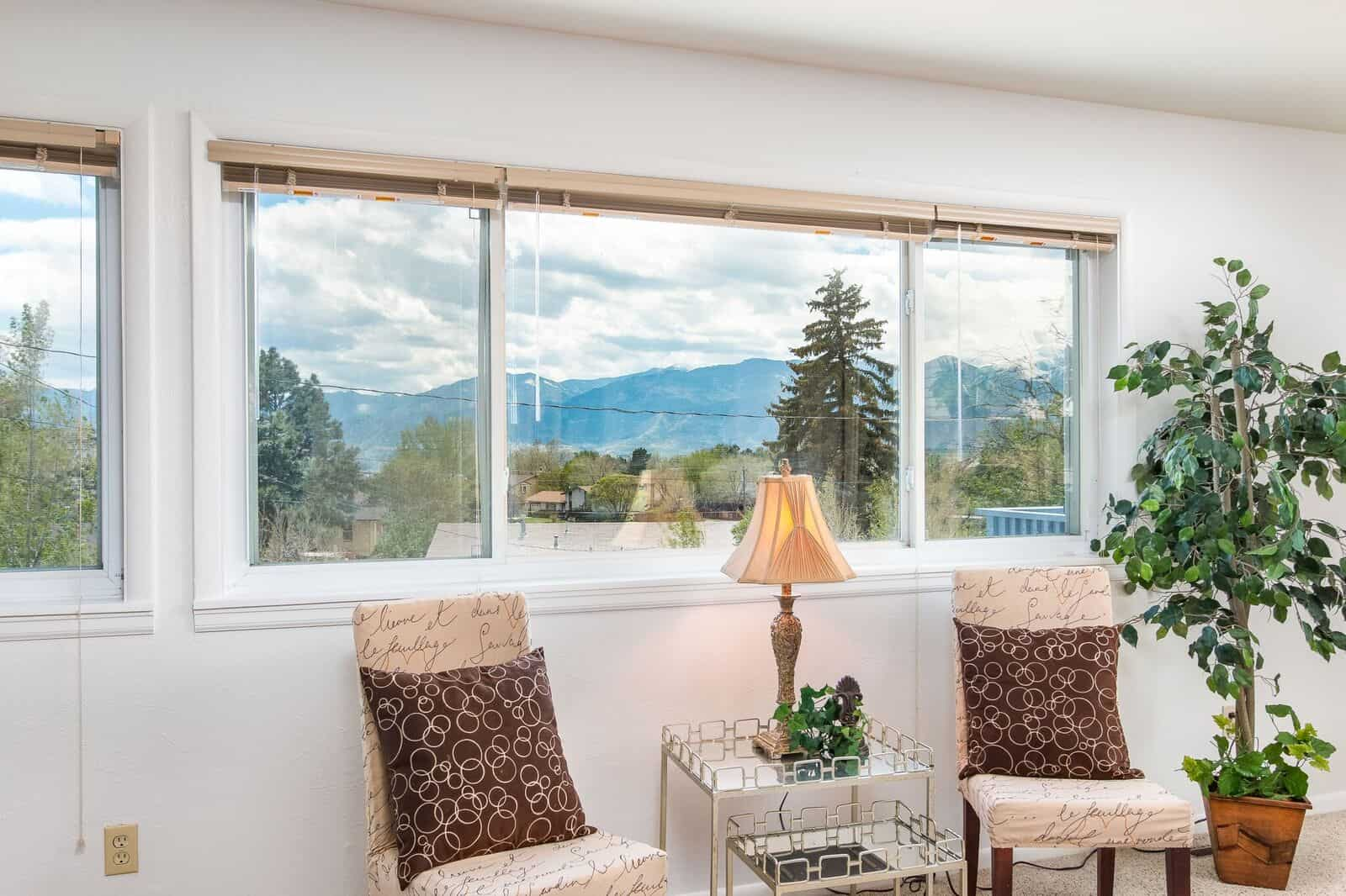 Peak and Front Range Views from Upper Living Room