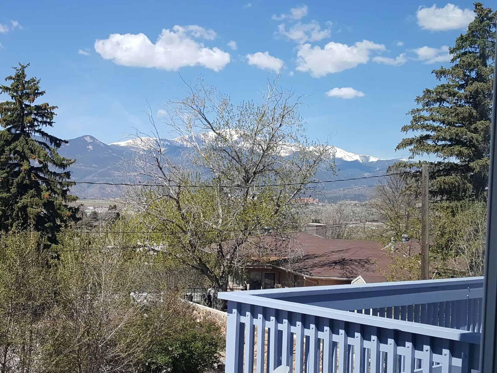 Peak Views off Deck and Living Room Windows